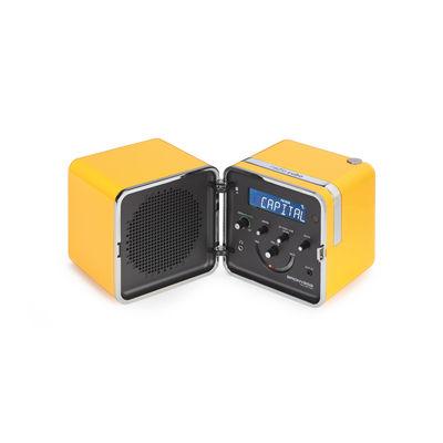 Accessoires - Enceintes audio & son - Radio portable Radio.Cubo 50 / Enceinte Bluetooth - 1964 - Brionvega - Jaune - ABS