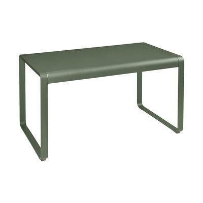 Outdoor - Garden Tables - Bellevie Rectangular table - / 140 x 80 cm - Metal by Fermob - Cactus - Aluminium, Steel