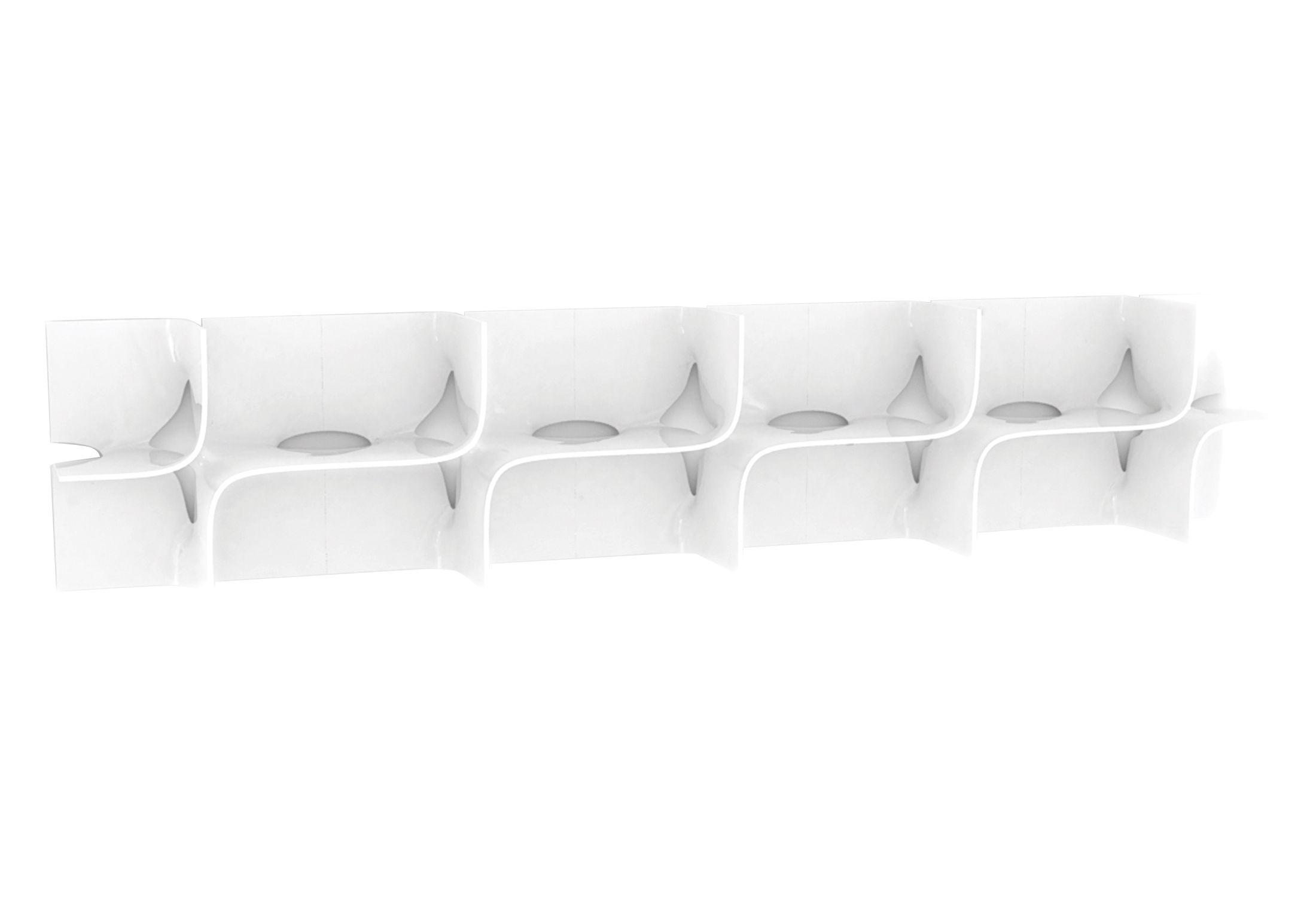Möbel - Regale und Bücherregale - Tide Regal Regalsystem - B 45 x H 45 cm - Magis - Weiß glänzend - ABS