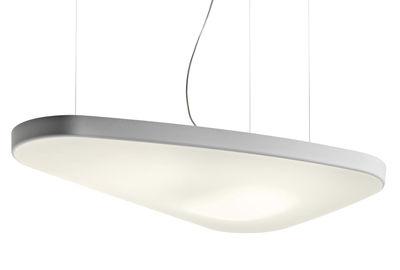 Illuminazione - Lampadari - Sospensione acustica Petale - / Acustica - Versione ovale 137 x 84 cm di Luceplan - Bianco - 137 x 84 cm - Tessuto