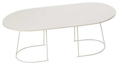 Table basse Airy / Large - 120 x 65 cm - Muuto blanc/beige en métal/bois