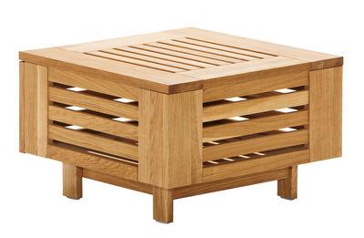Mobilier - Tables basses - Table basse Skanör /Rangement - 71,5 x 71,5 cm - Skargaarden - Teck - Teck