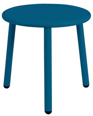 Table basse Yard / Ø 50 cm - Emu bleu en métal