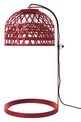 Lighting - Table Lamps - Emperor Table lamp by Moooi - Red - Rattan, Steel, Zamak