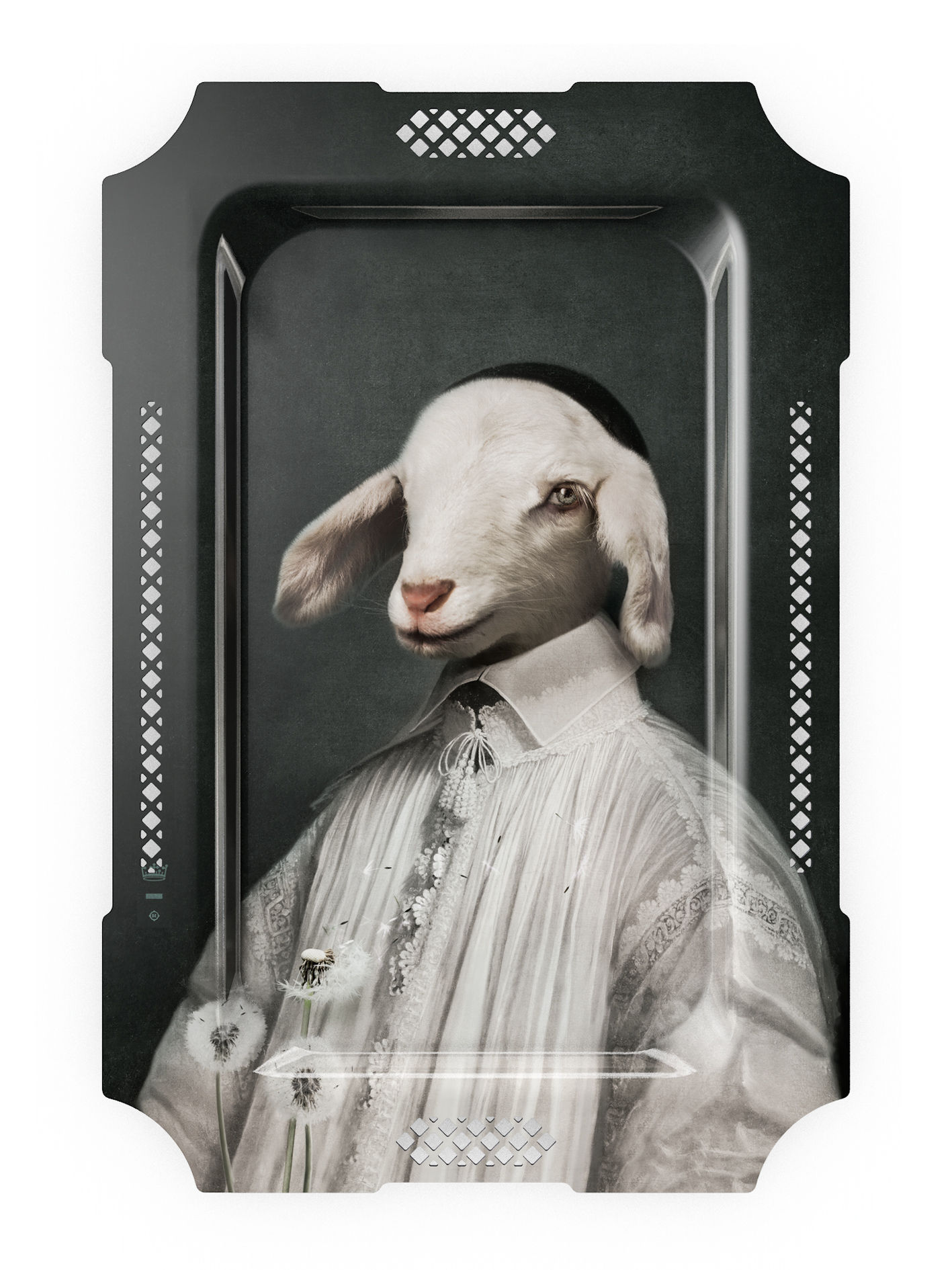 Tischkultur - Tabletts - Le loup et l'Agneau Tablett - Ibride - Lamm - massive Press-Spanplatte