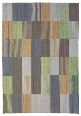 Interni - Tappeti - Tappeto Blend 3 - / 200 x 300 cm di Nanimarquina - Verde & blu - Lana afghana