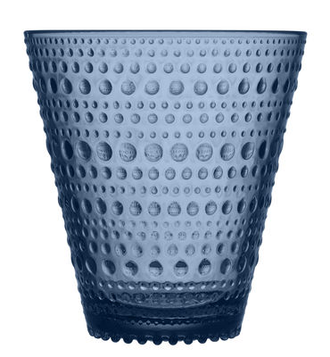 Verre Kastehelmi / Lot de 2 verres - 30 cl - Iittala gris orage en verre