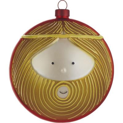 Dekoration - Weihnachtsdekoration - Giuseppe Weihnachtskugel / Josef - Alessi - Josef - braun & rot - mundgeblasenes Glas