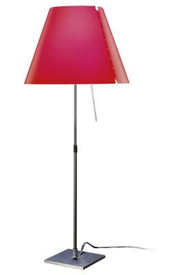Abat-jour Costanza - Luceplan rouge en matière plastique