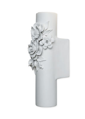 Applique Capodimonte / Céramique - Ø 6 x H 26 cm - Karman blanc mat en céramique