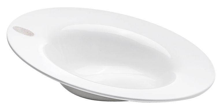 Arts de la table - Assiettes - Assiette creuse I.D.Ish by D'O Auumn / Inclinée - Kartell - Blanc / Creuse penchée - Mélamine