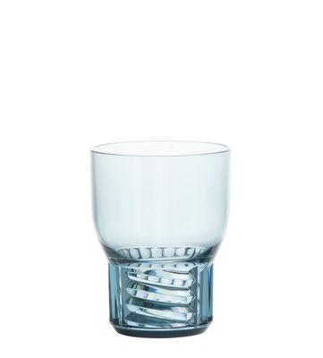 Image of Bicchiere Trama Small - / H 11 cm di Kartell - Blu - Materiale plastico