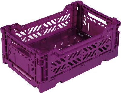 Casier de rangement Mini Box / pliable L 26,5 cm - Surplus Systems - Pop Corn violet en matière plastique