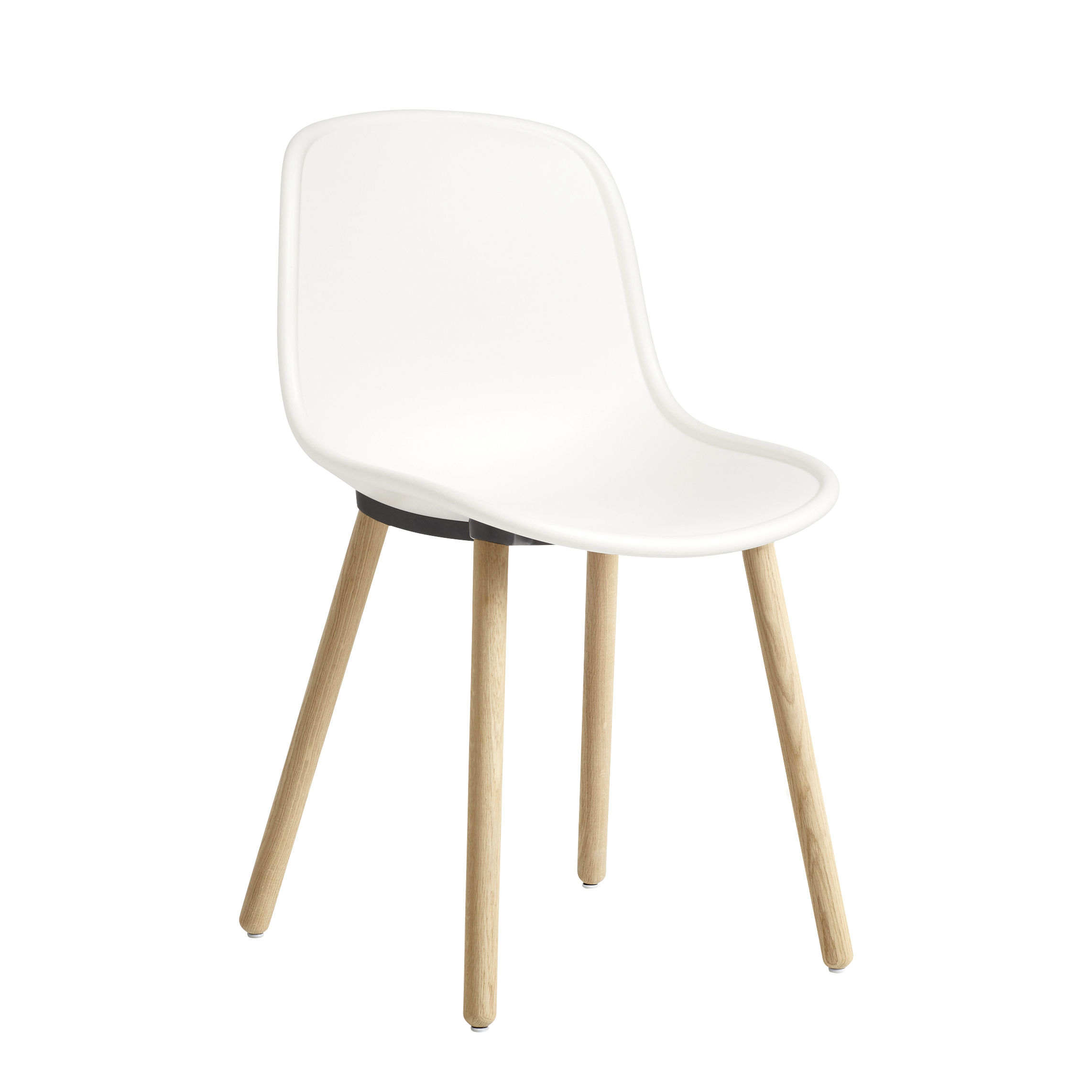 Furniture - Chairs - Neu 12 Chair - / Plastic & wood with aluminium joint by Hay - Cream / Wooden legs - Aluminium, Polypropylene, Solid oak