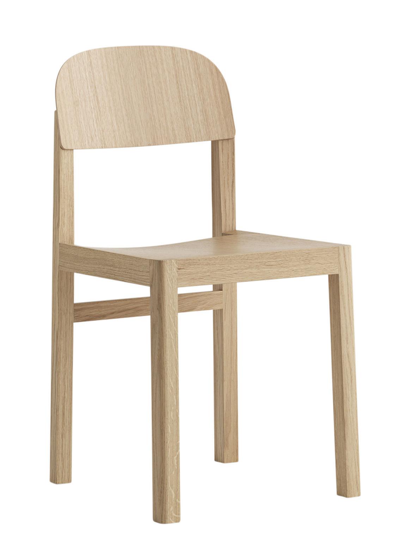 Mobilier - Chaises, fauteuils de salle à manger - Chaise Workshop / Bois - Muuto - Chêne naturel - Chêne clair