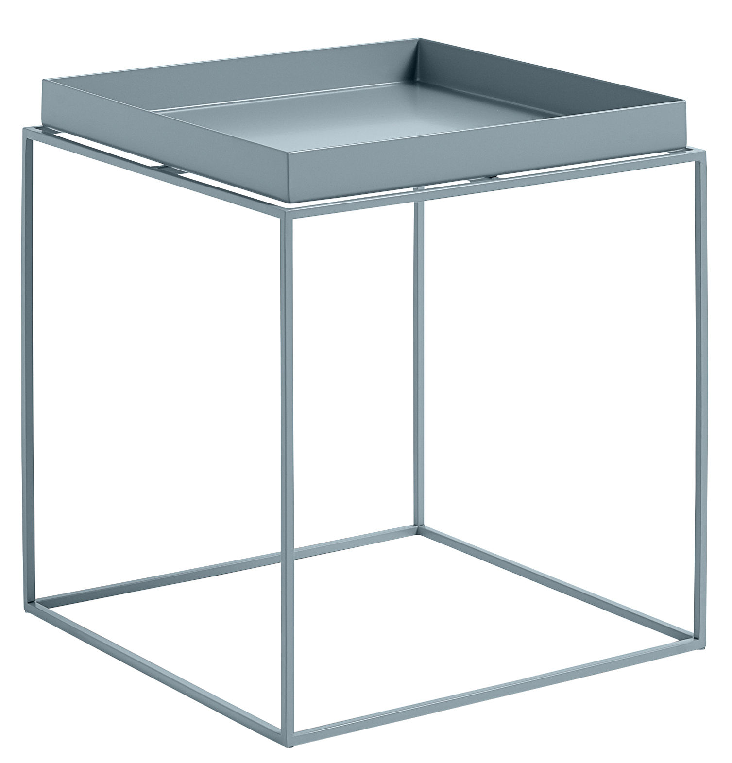 Furniture - Coffee Tables - Tray Coffee table - Square - H 40 cm / 40 x 40 cm by Hay - Blue - Lacquered steel