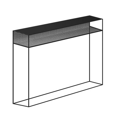 Furniture - Console Tables - Tristano Console - / L 124 cm - Metal by Zeus - Black - Steel