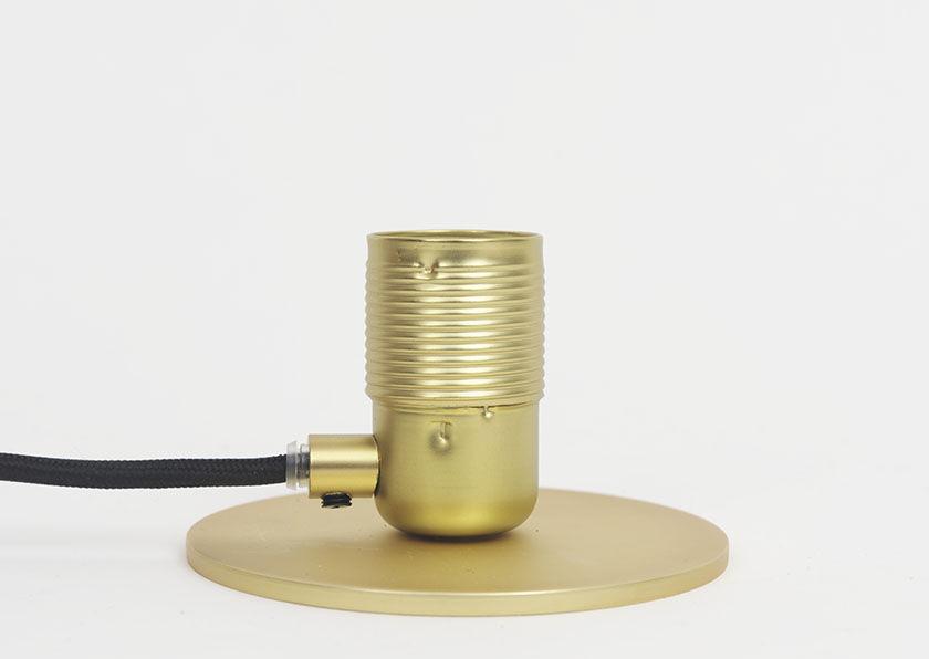 Fonso applique in ottone naturale o verniciato di ruggine