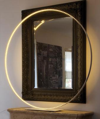 Lampadaire Mega / LED - Ø 123 cm - Le Deun blanc en métal