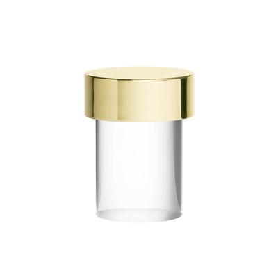 Luminaire - Lampes de table - Lampe sans fil Last Order / INDOOR - Ø 10 x H 14 cm - Flos - Lisse / Laiton & transparent - Métal, Verre