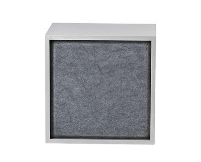 Mobilier - Etagères & bibliothèques - Panneau acoustique / Pour étagère Stacked Medium - 43x43 cm - Muuto - Gris - Feutre pressé