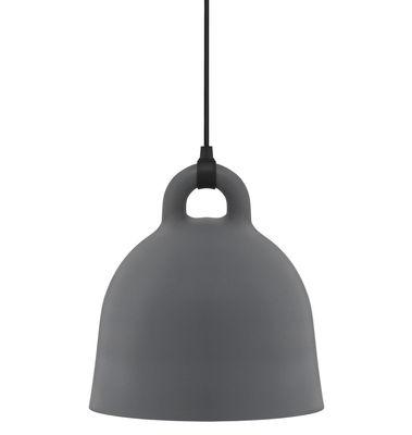 Lighting - Pendant Lighting - Bell Pendant - Small Ø 35 cm by Normann Copenhagen - Matt Grey & White inside - Aluminium