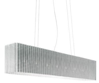 Plissé Pendelleuchte ausziehbar - Luceplan - Weiß