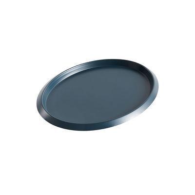 Tavola - Vassoi  - Piano/vassoio Ellipse Small - / 23 x 18 cm - Metallo di Hay - Verde scuro - Acciaio verniciato