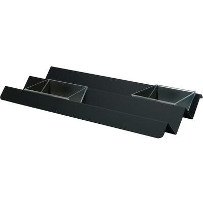 Tavola - Piatti da portata - Piano/vassoio V tray di Alessi - Nero super black - Acciaio