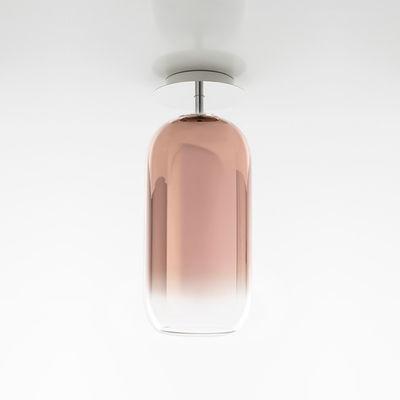 Plafonnier Gople / Verre - H 50 cm - Artemide cuivre,transparent en verre
