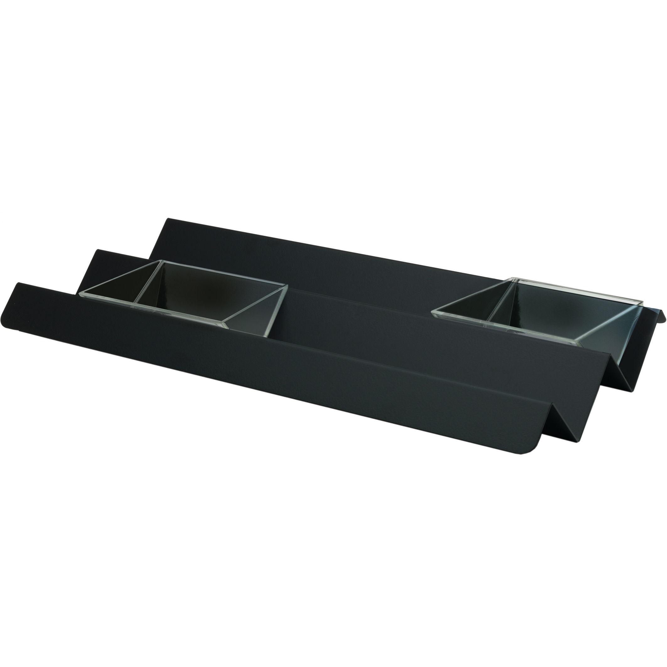 Arts de la table - Plats - Plateau V tray / 45 x 23 cm - Alessi - Noir super black - Acier
