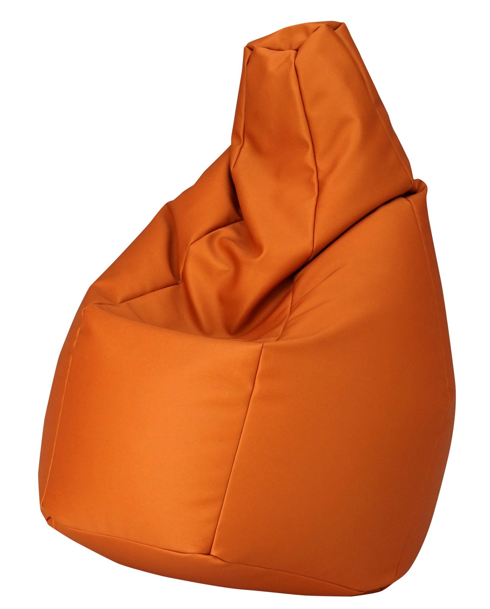 Pouf Zanotta.Sacco Outdoor Pouf Fabric Orange By Zanotta Made In Design Uk