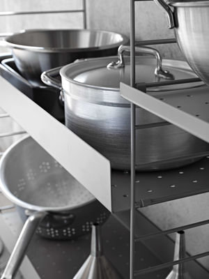 Regalboden Metall flach Weiß 78 x 30 cm String