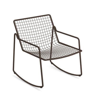 Rocking chair Rio R50 / Métal - Emu marron/métal en métal