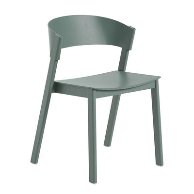 Furniture - Chairs - Cover Stacking chair - / Wood by Muuto - Green - Curved plywood, Solid oak