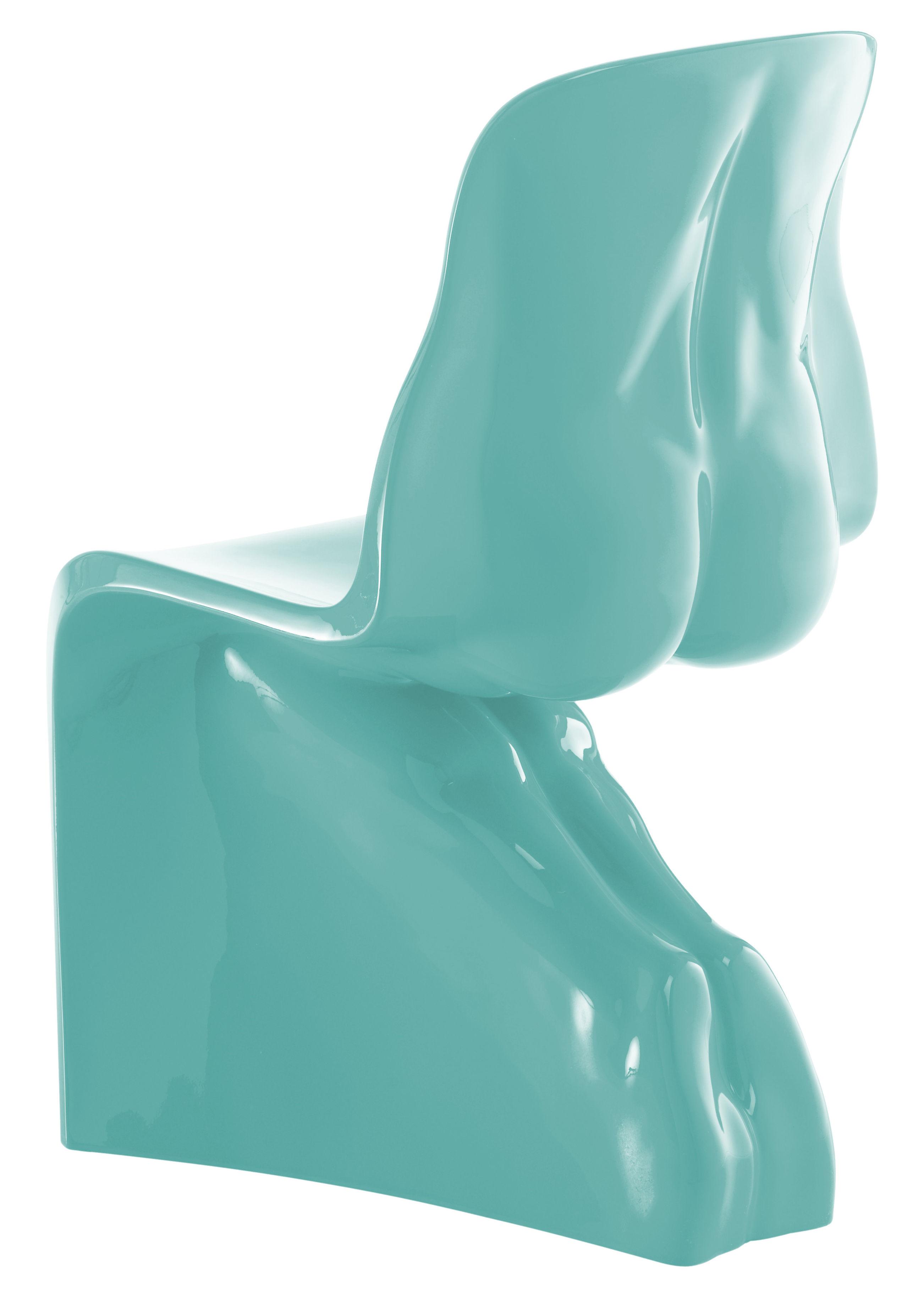 Möbel - Stühle  - Him Stuhl lackiert - Casamania - Himmelblau - Polyäthylen