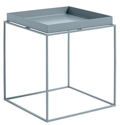 Table basse Tray H 40 cm / 40 x 40 cm - Carré - Hay bleu en métal