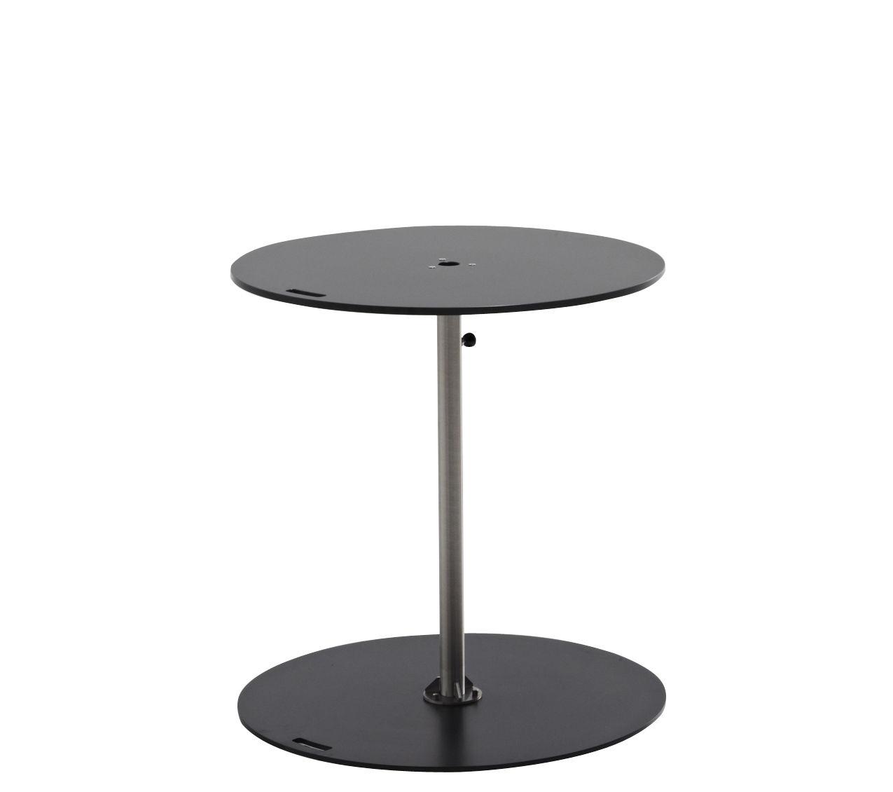 Jardin - Tables de jardin - Table / Ø 73 x H 75 cm - Trou parasol - Extremis - Noir - Acier