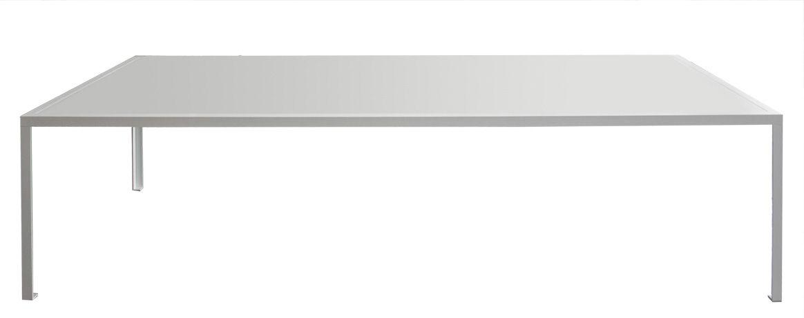 Table rectangulaire Tavolo / 280 x 120 cm - Stratifié Fenix-NTM® - Zeus blanc en métal/matière plastique