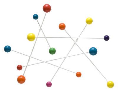Möbel - Garderoben und Kleiderhaken - Constellation Wandgarderobe 60 x 83 cm - Sentou Edition - Weiß & mehrfarbig - Holz, Metall