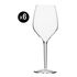 Vertical Large Wine glass - 4 wine glasses 50 cl by Italesse