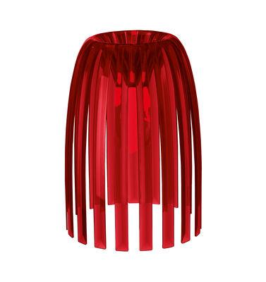 Abat-jour Josephine Small / Ø 22 x H 28 cm - Koziol rouge transparent en matière plastique
