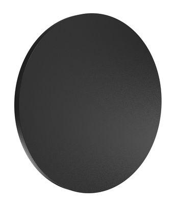 Luminaire - Appliques - Applique d'extérieur Camouflage LED / Ø 24 cm - Flos - Noir - Aluminium peinture poudre