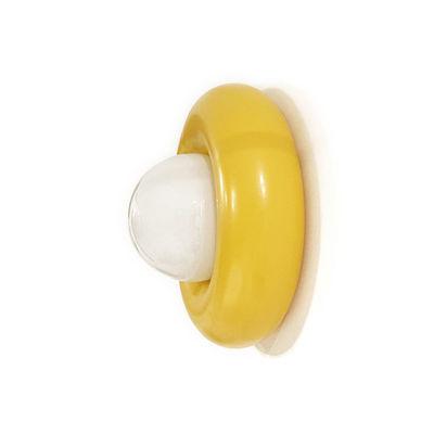 Luminaire - Appliques - Applique Donut / Acier & verre - Ø 40 cm - Axel Chay - Jaune Safran / Blanc - Acier laqué, Verre