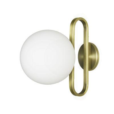 Applique salle de bains Cime Large OUTDOOR / Ø 20 cm - ENOstudio or/métal en métal/verre