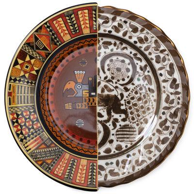 Assiette Hybrid Mitla / Ø 27,5 cm - Seletti multicolore en céramique