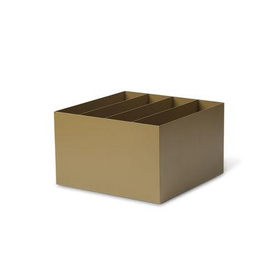 Bac compartimenté / Pour jardinière Plant Box - Prof. 25 cm - Ferm Living vert en métal