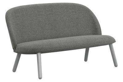 Mobilier - Canapés - Canapé droit Ace / 2 places - L 145 cm - Tissu & bois - Normann Copenhagen - Tissu gris / Hêtre - Hêtre teinté, Tissu Nist