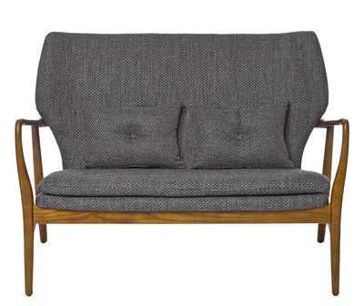 Canapé droit Peggy 2 places L 124 cm Pols Potten gris,bois naturel en tissu