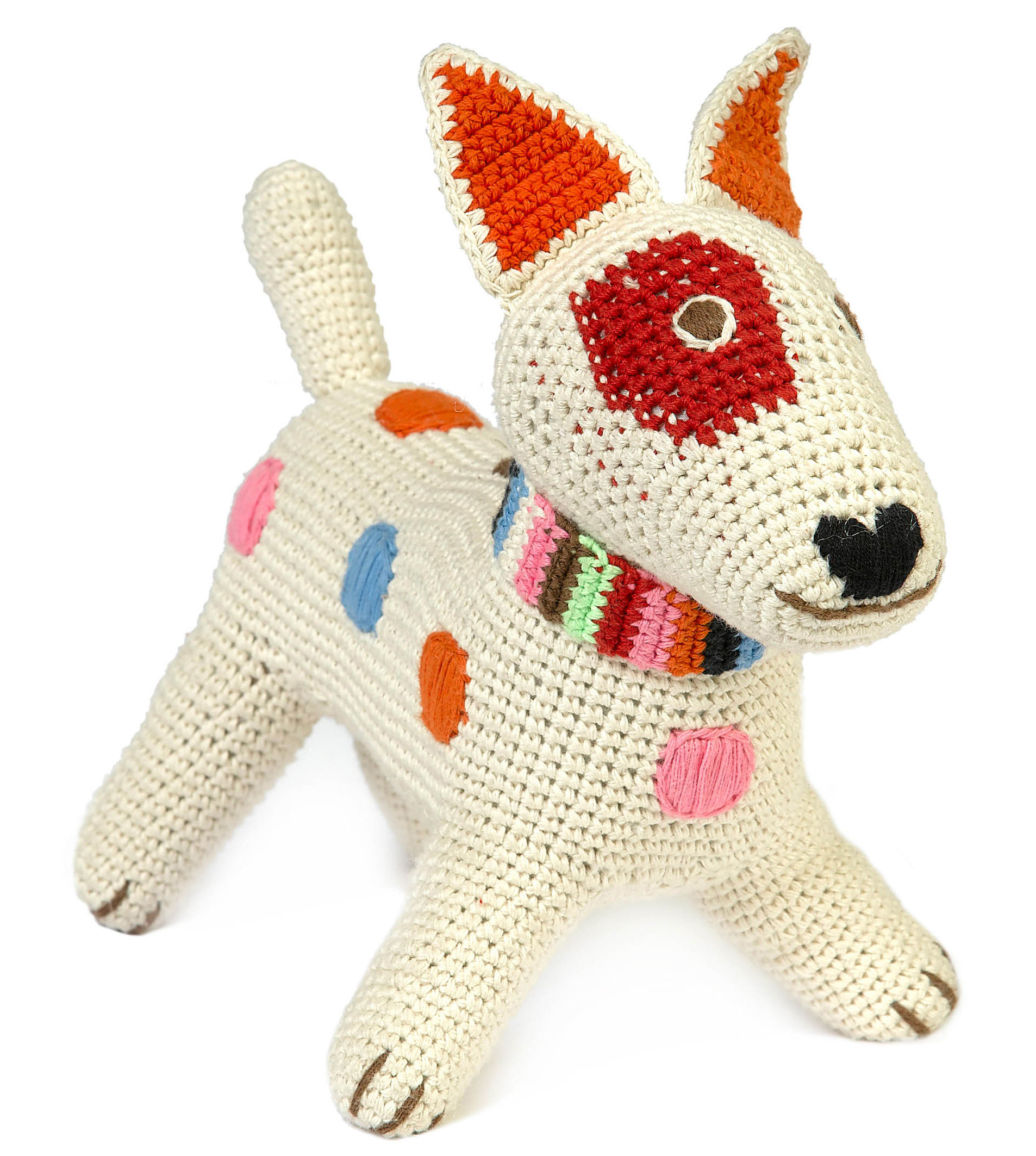 Decoration - Children's Home Accessories - Fox Terrier Cuddly toy - Crochet cuddly toy by Anne-Claire Petit - Nature - Cotton